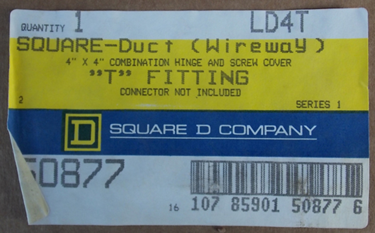 "Square D LD4T Square-Duct Wireway 4"" x 4"" Combination Hinge and Screw Cover New"