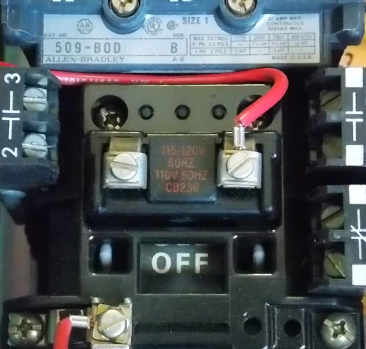 AB 512-BDB-6P-24R Size 1 Combo Starter 3PH 480V 120V Coil N12 - Used