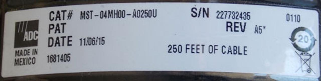 ADC MST-04MH00-A0250U 250' 4-Port Di-Electric Flat Drop Cable - New