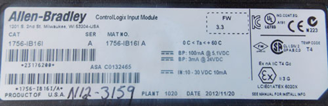 Allen Bradley 1756-IB16I ControlLogix Input Module - New