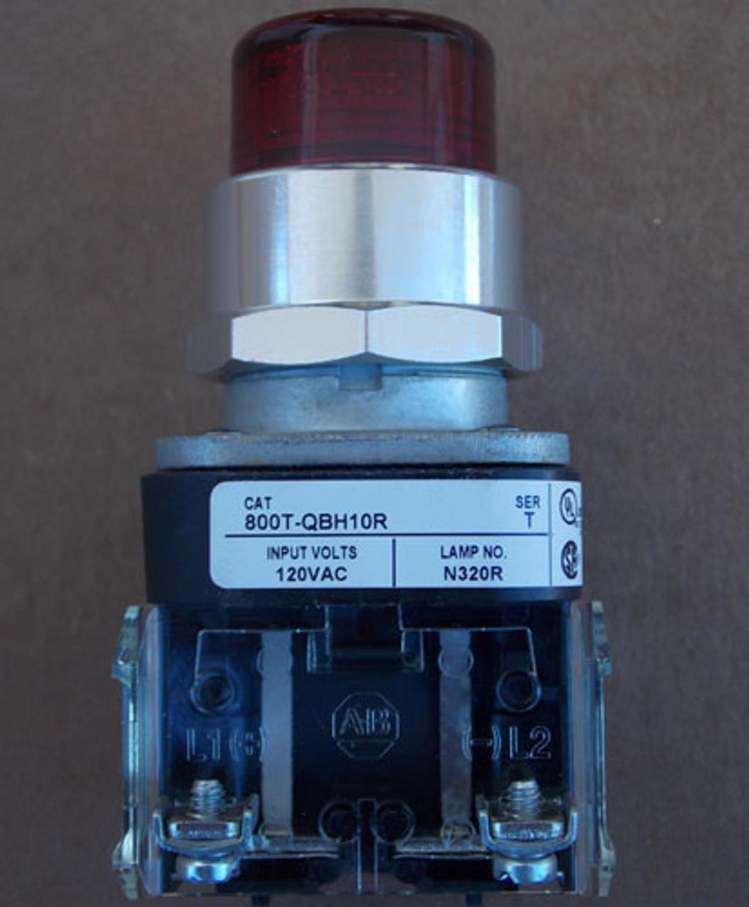 Allen-Bradley 800T-QBH10R Illuminated Push Button Type 4,13 120V - New