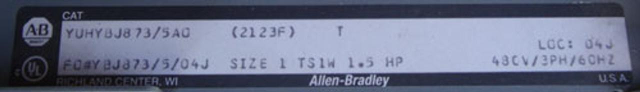 Allen-Bradley MCC Bucket Size 1 Rev w/ HMCP007COC 7A Circuit Breaker - NPO