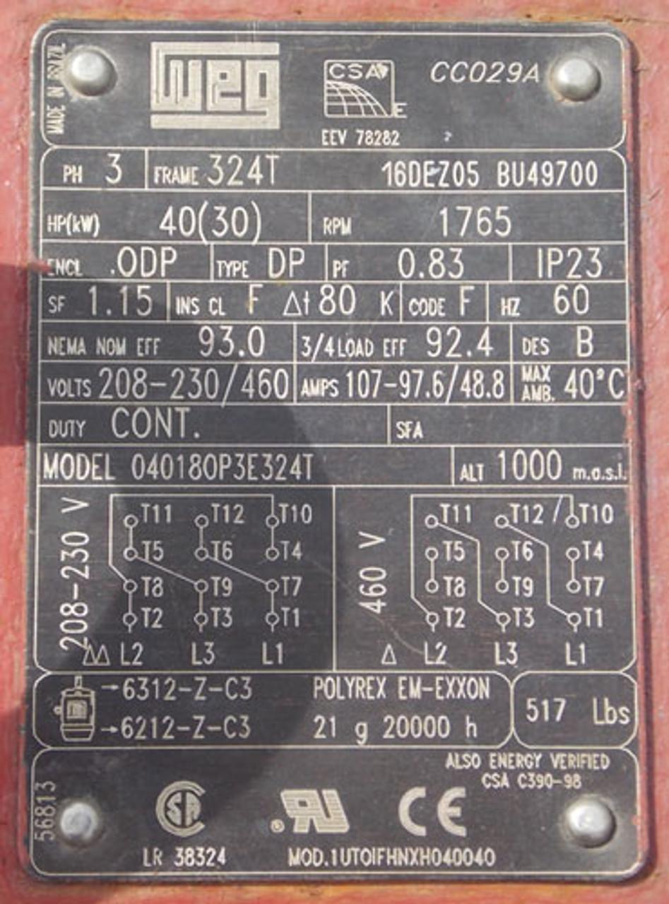 Bell & Gossett 1BF196-JS-B60 550 GPM at 175 PSI Fire Pump - Used