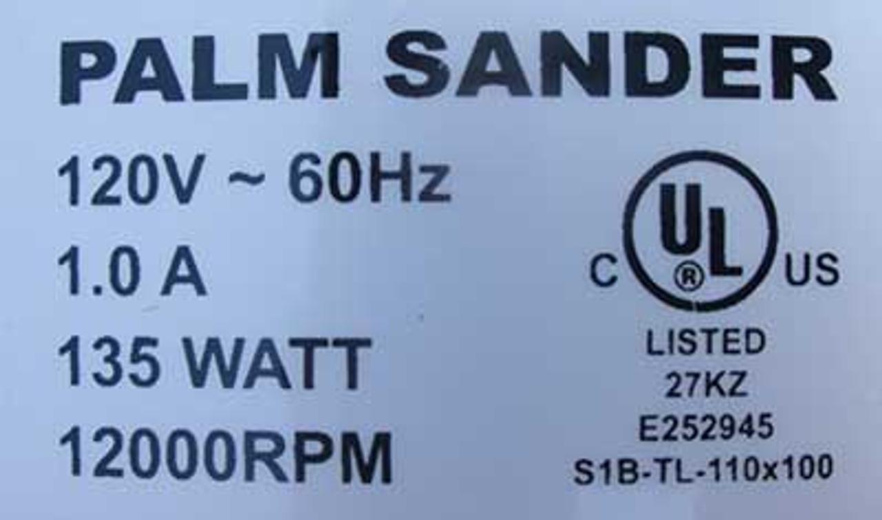 Buffalo Tools 1.0 Amp 120V 135Watt 12000RPM Palm Sander - New
