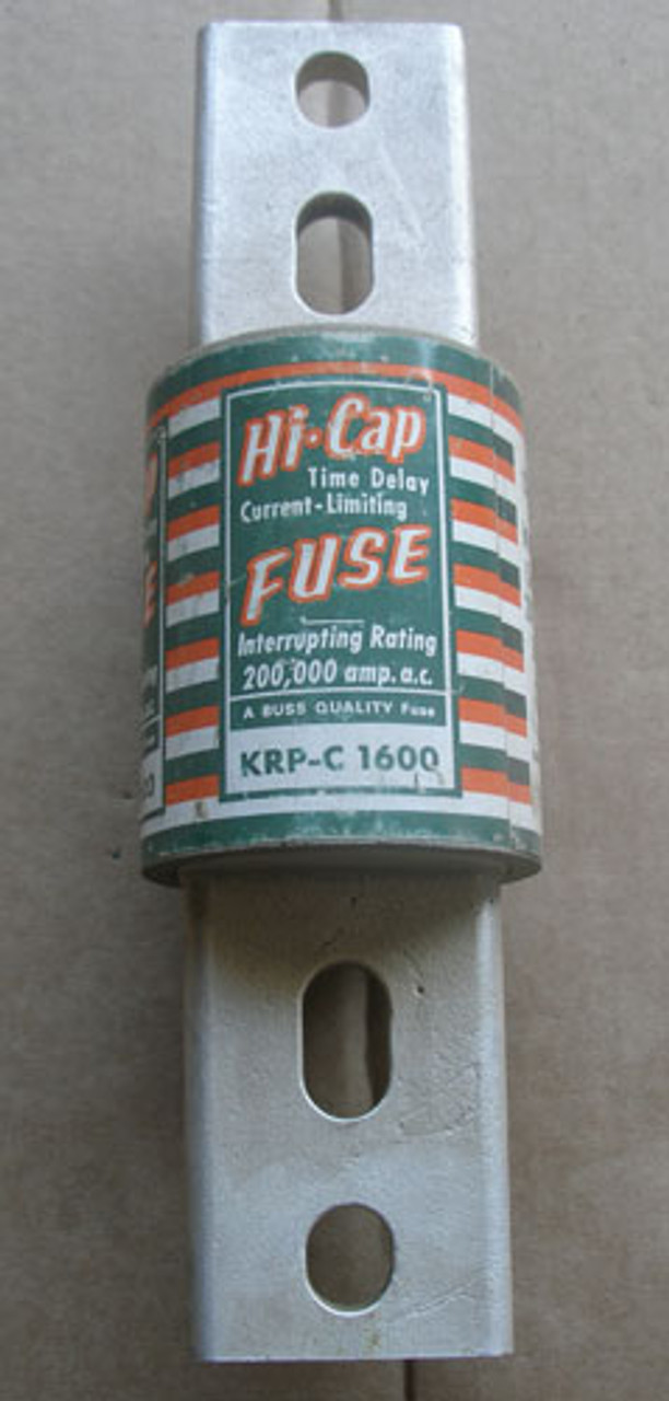 Buss Hi-Cap KRP-C 1600A 600V Time Delay Current-Limiting Fuse - Used