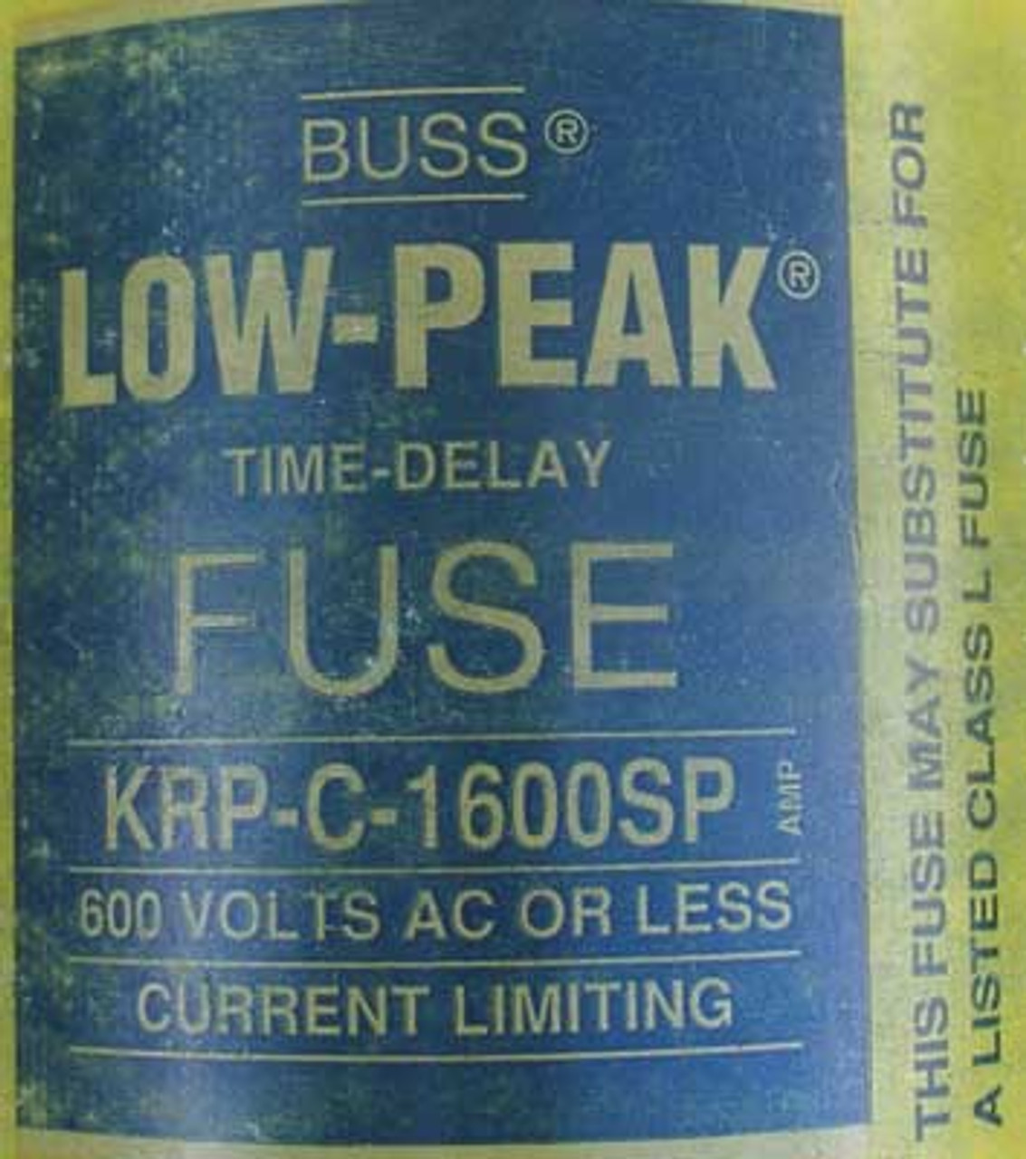 Buss Low-Peak Time-Delay Fuse KRP-C-1600SP 1600 Amp 600VAC - New