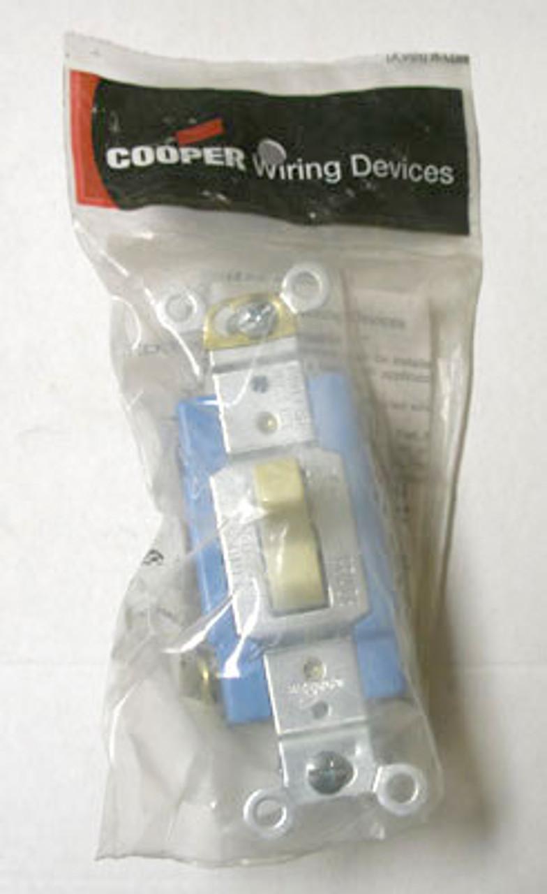 Cooper 1204V Ivory 4-Way 15A 120-277V Switch (Box of 5) - New