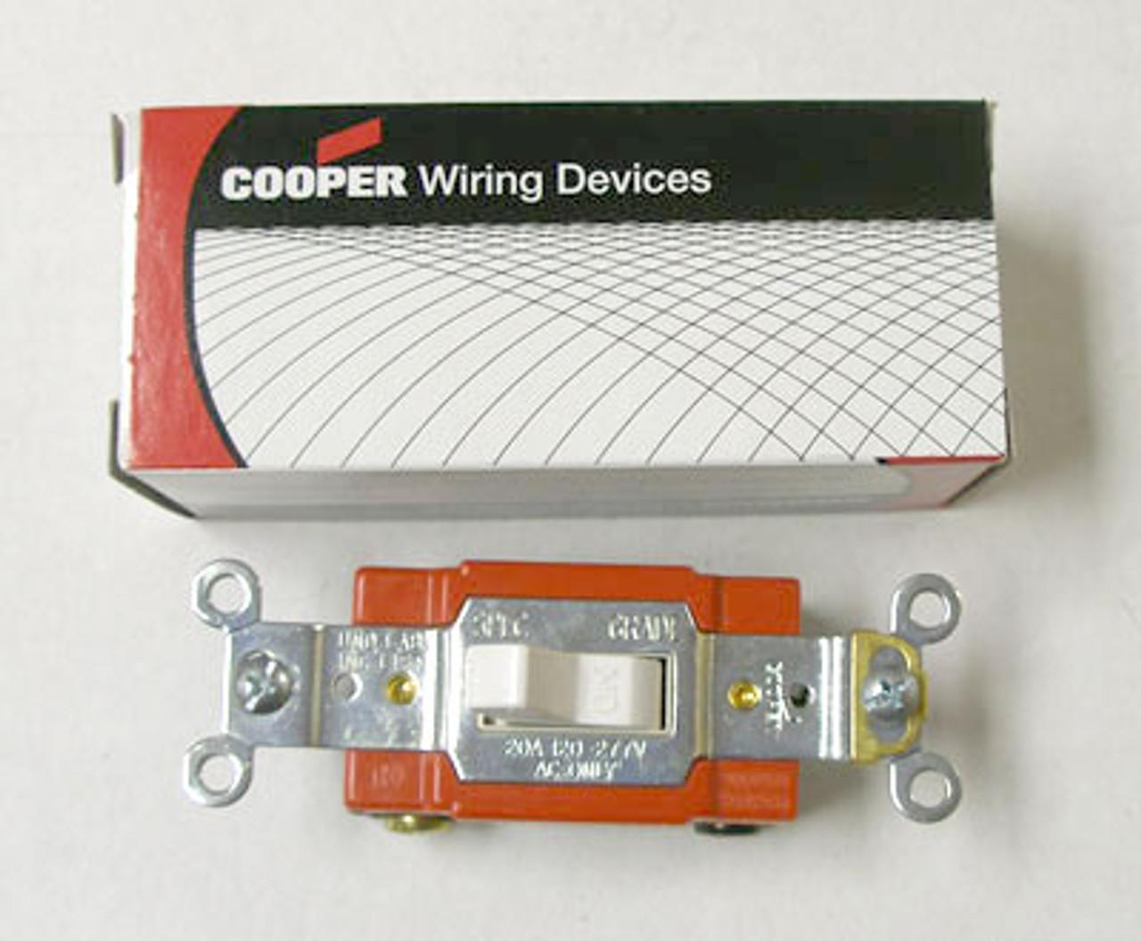 Cooper 2221W Single Pole 20A 120-277V Switch (Box of 10) - New