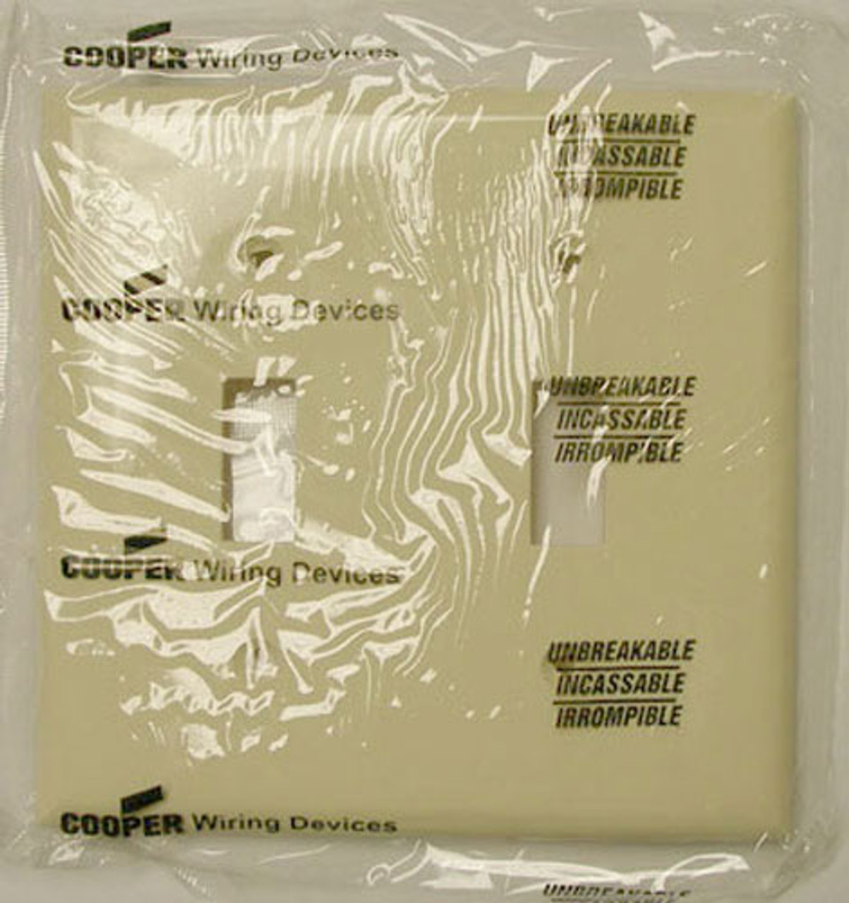 Cooper 5139A 2 Gang Almond Switch Plate (Lot of 25) - New