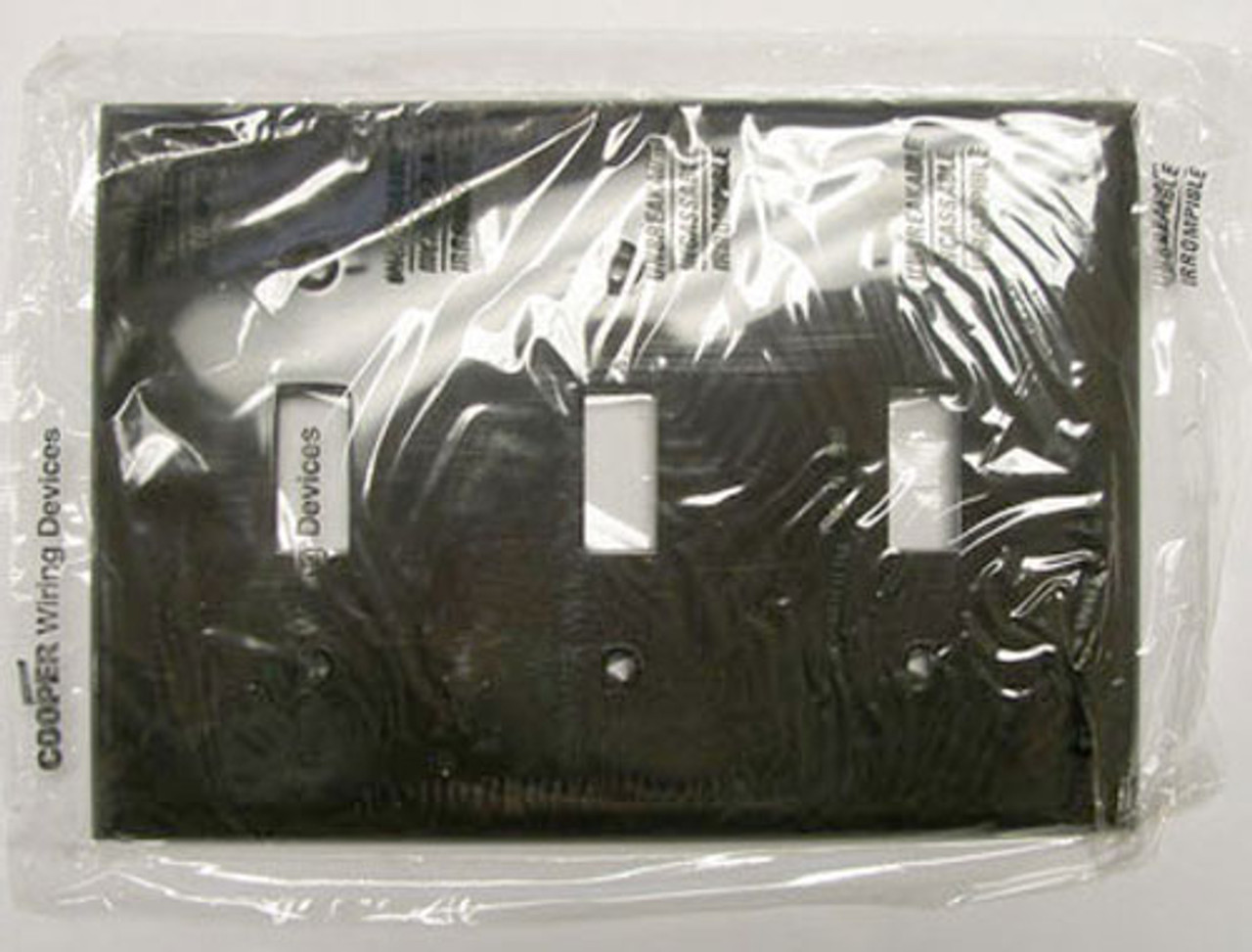 Cooper 5141B 3 Gang Brown Toggle Plate (Lot of 7) - New