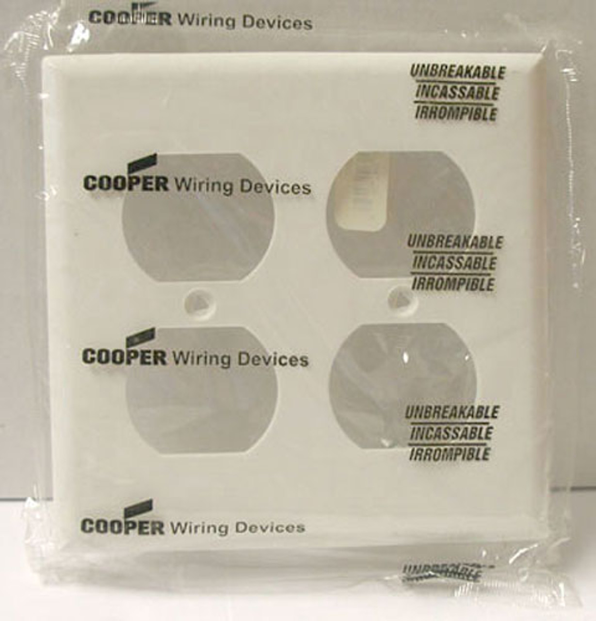 Cooper 5150W 2 Gang White Hosp Receptacle Wallplate (Lot of 20) - New