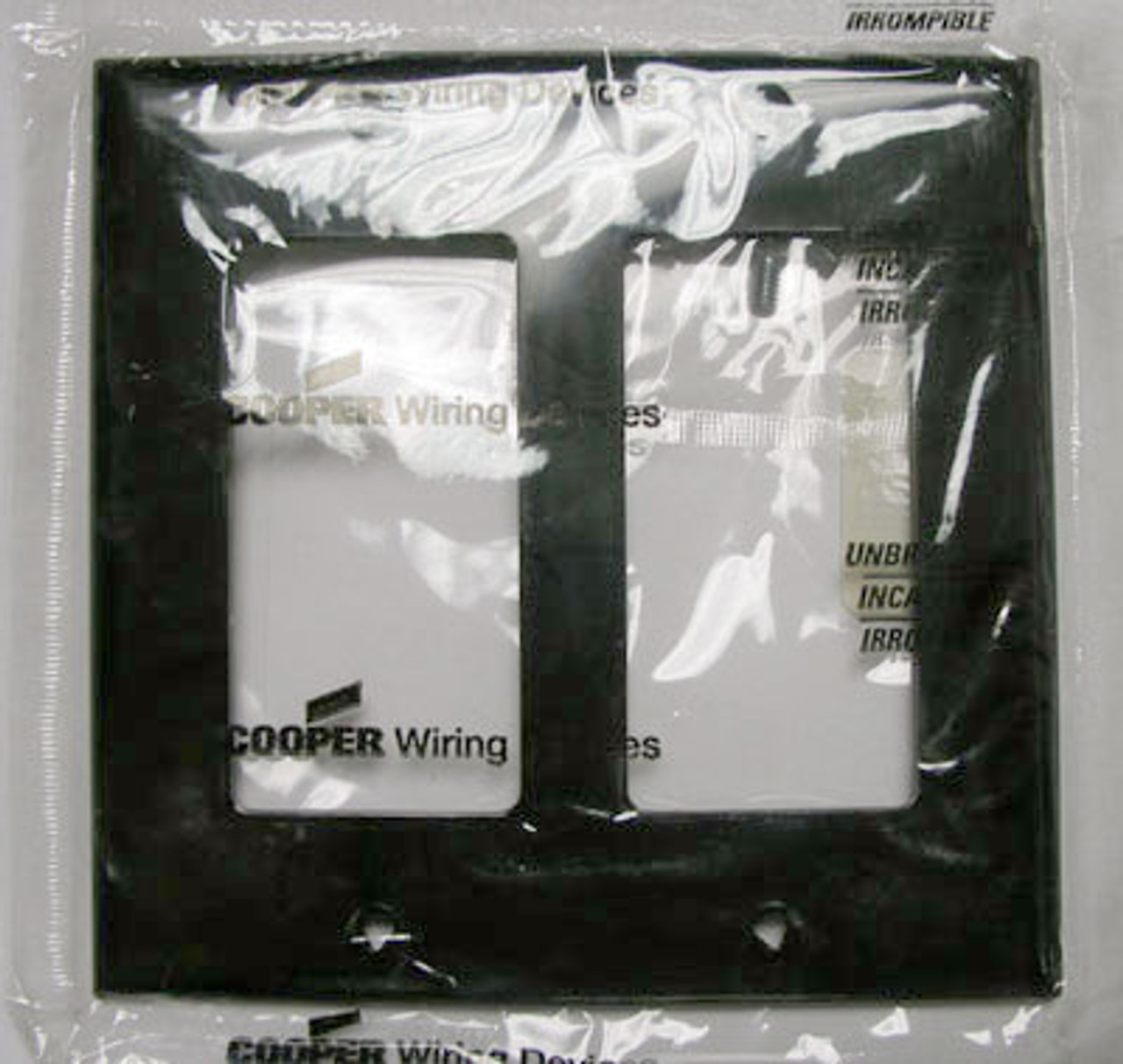 Cooper 5152BK 2 Gang Decorative Plate Black (Lot of 10) - New