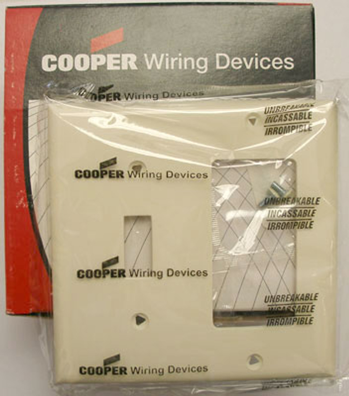 Cooper 5153A 2 Gang Switch/Decorative Plate (Lot of 20) - New