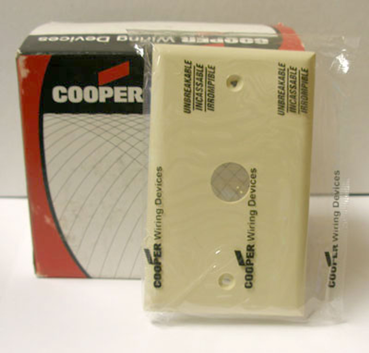 Cooper 5159V 1 Gang Ivory Thermo Wallplate (Lot of 15) - New