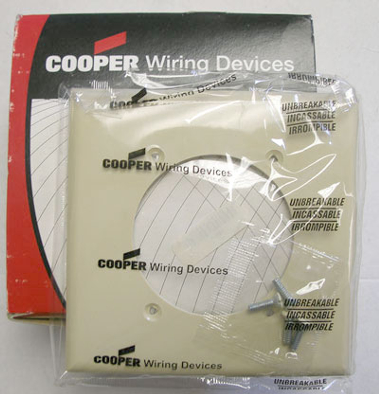 Cooper 5169V Ivory 2 Gang 4 Wire Wallplate (Lot of 10) - New