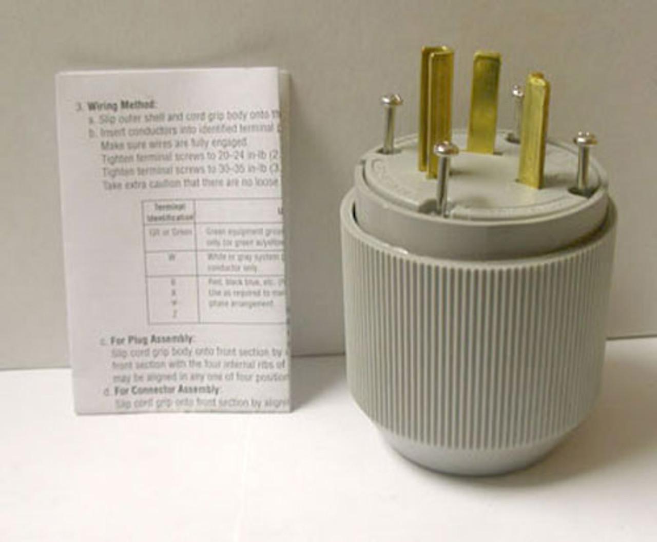 Cooper 5703N 30A 277V Nema 7-30 Autogrip Plug - New
