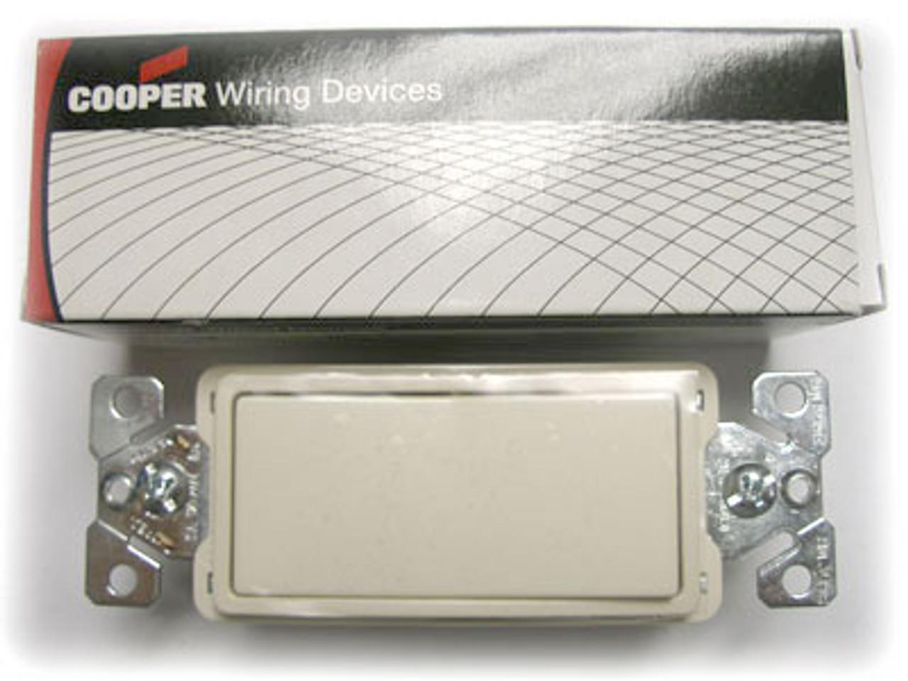 Cooper 7603LA Light Almond Decorator Commercial Switch - New