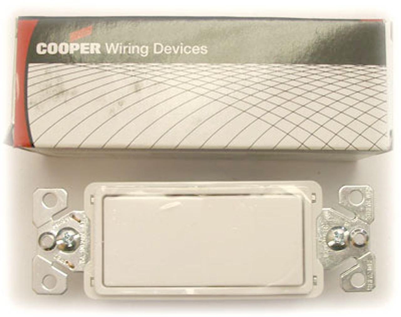 Cooper 7603W White Decorative Commericial Switch - New