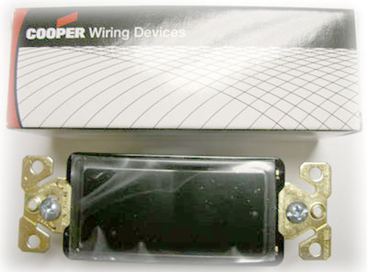 Cooper 7621BK Black Decorative Commercial Switch - New