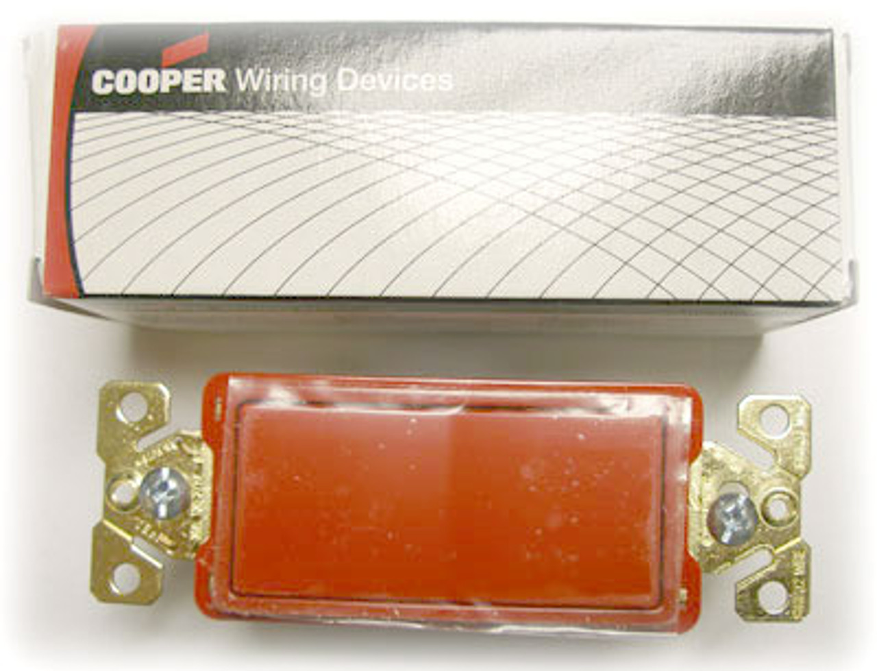 Cooper 7621RD Red Decorative Commercial Switch - New