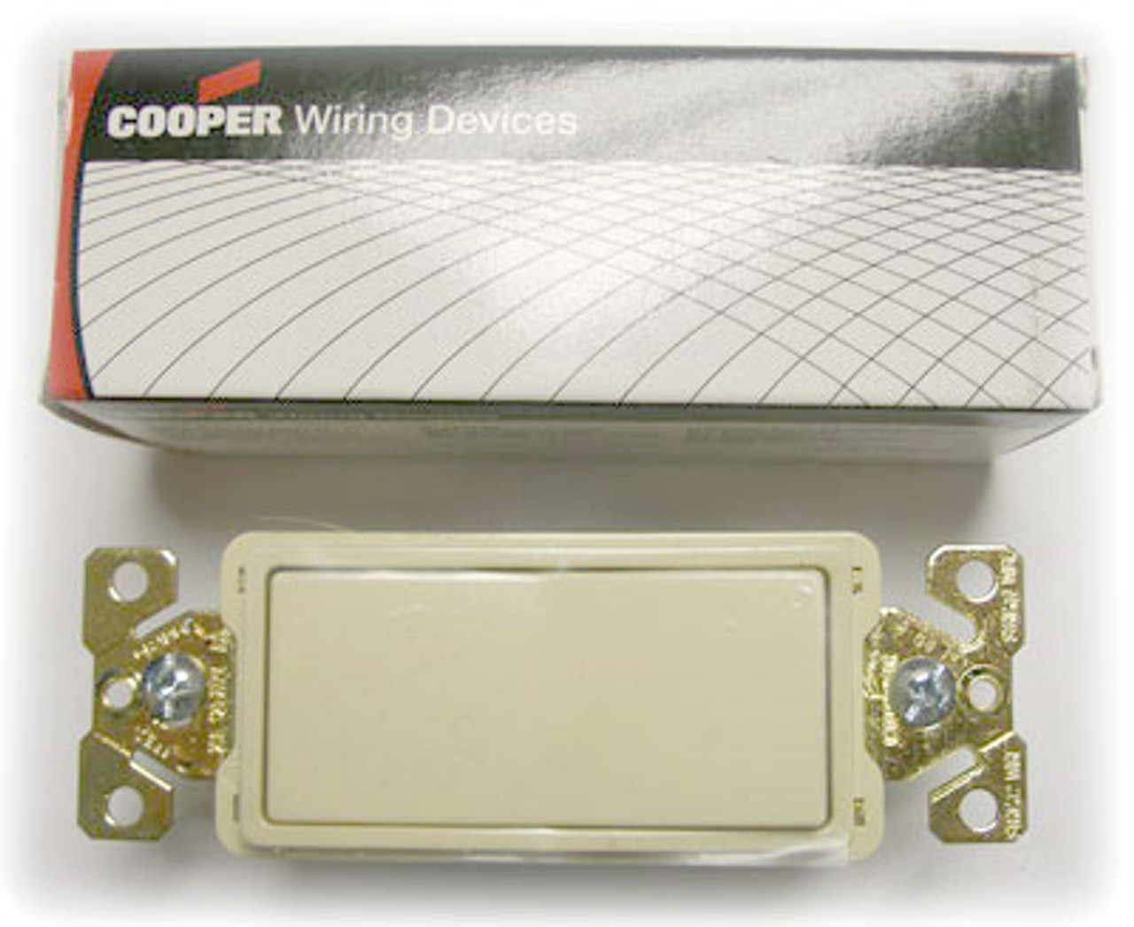 Cooper 7621V Ivory Decorative Commercial Switch - New