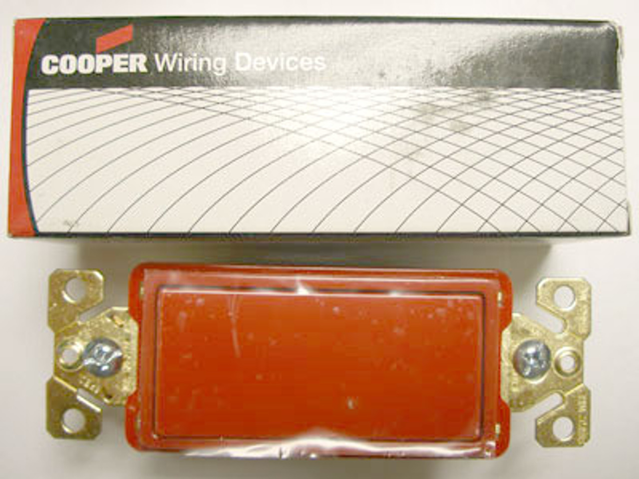 Cooper 7623RD Red Decorator Commercial Switch - New