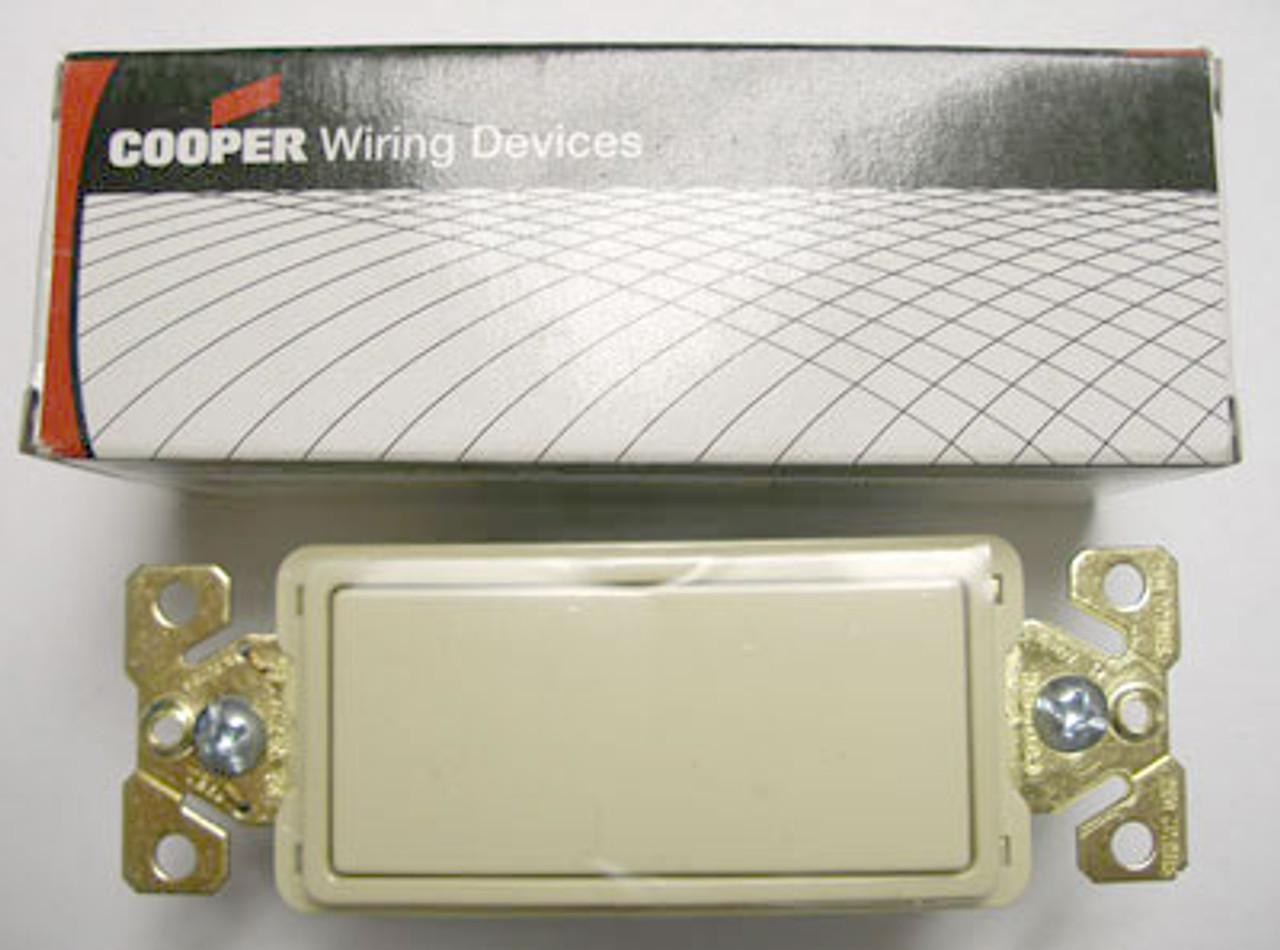 Cooper 7623V Ivory Decorator Commercial Switch - New