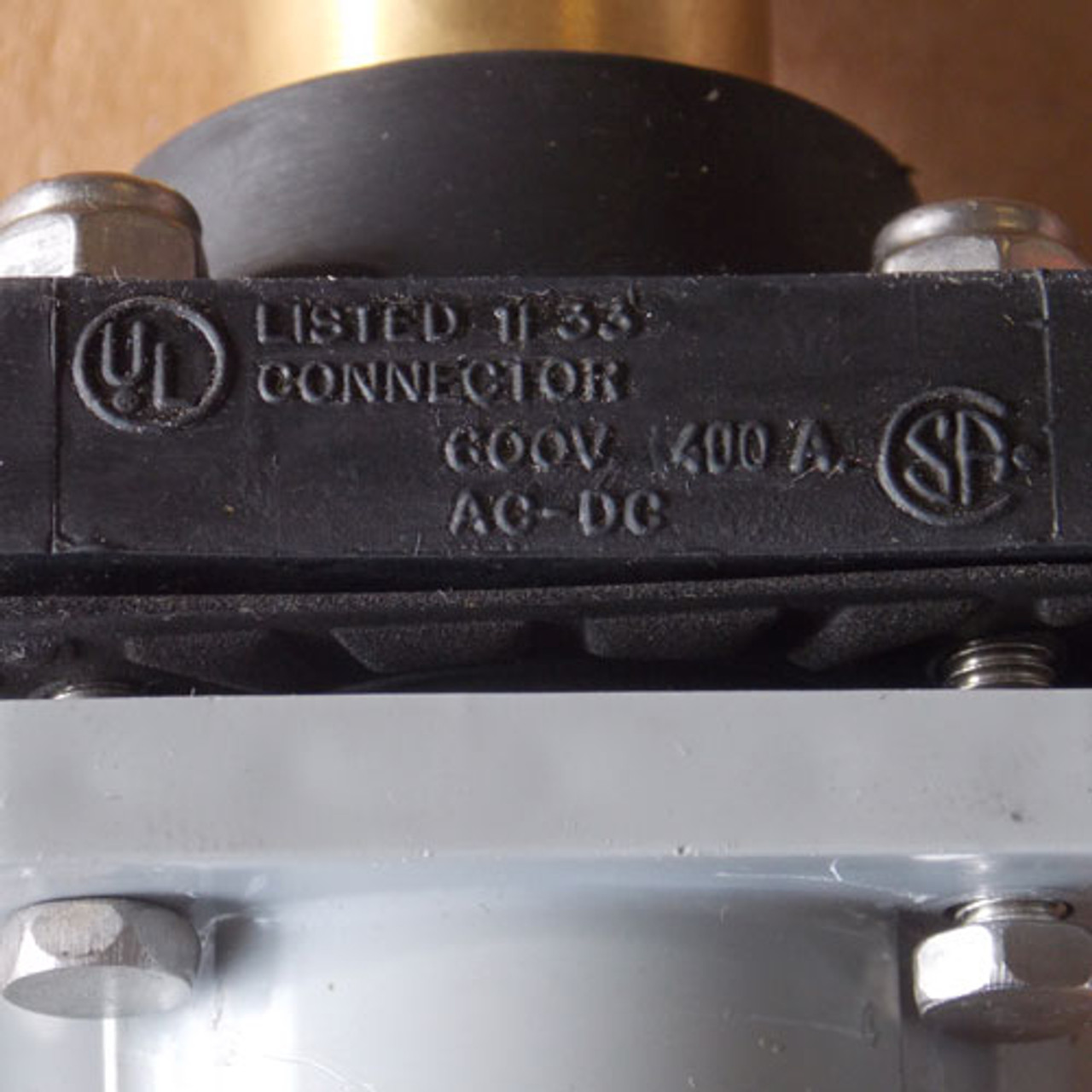 Cooper Crouse Hinds Cam-Lok E1016 Series Connector 400A 600V Black - New