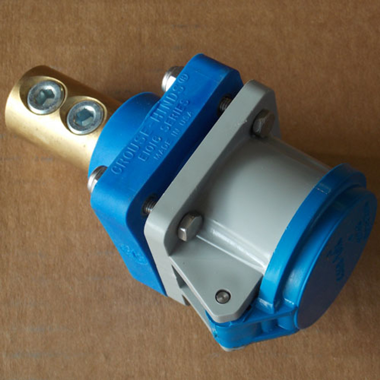 Cooper Crouse Hinds Cam-Lok E1016 Series Connector 400A 600V Blue - New