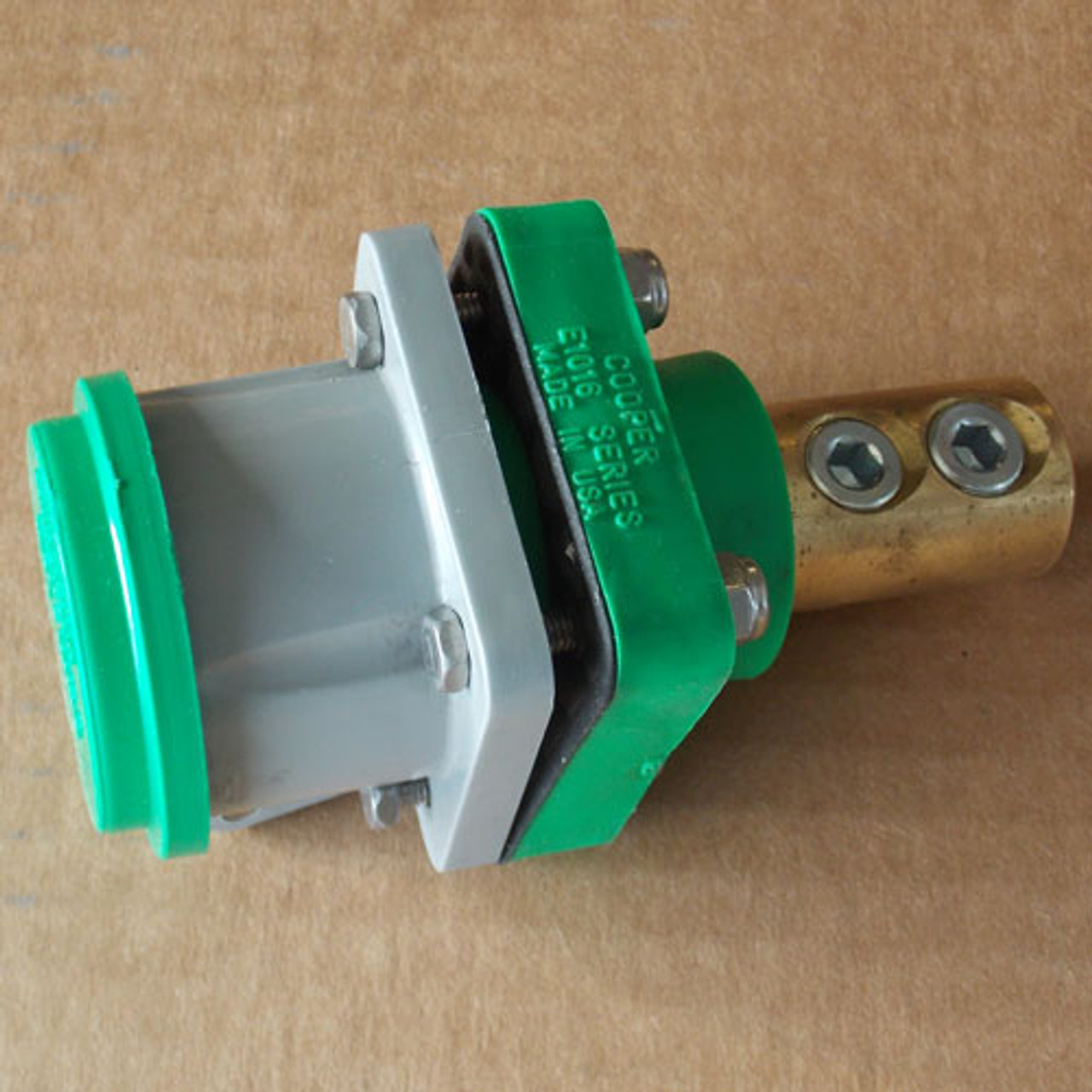Cooper Crouse Hinds Cam-Lok E1016 Series Connector 400A 600V Green - New