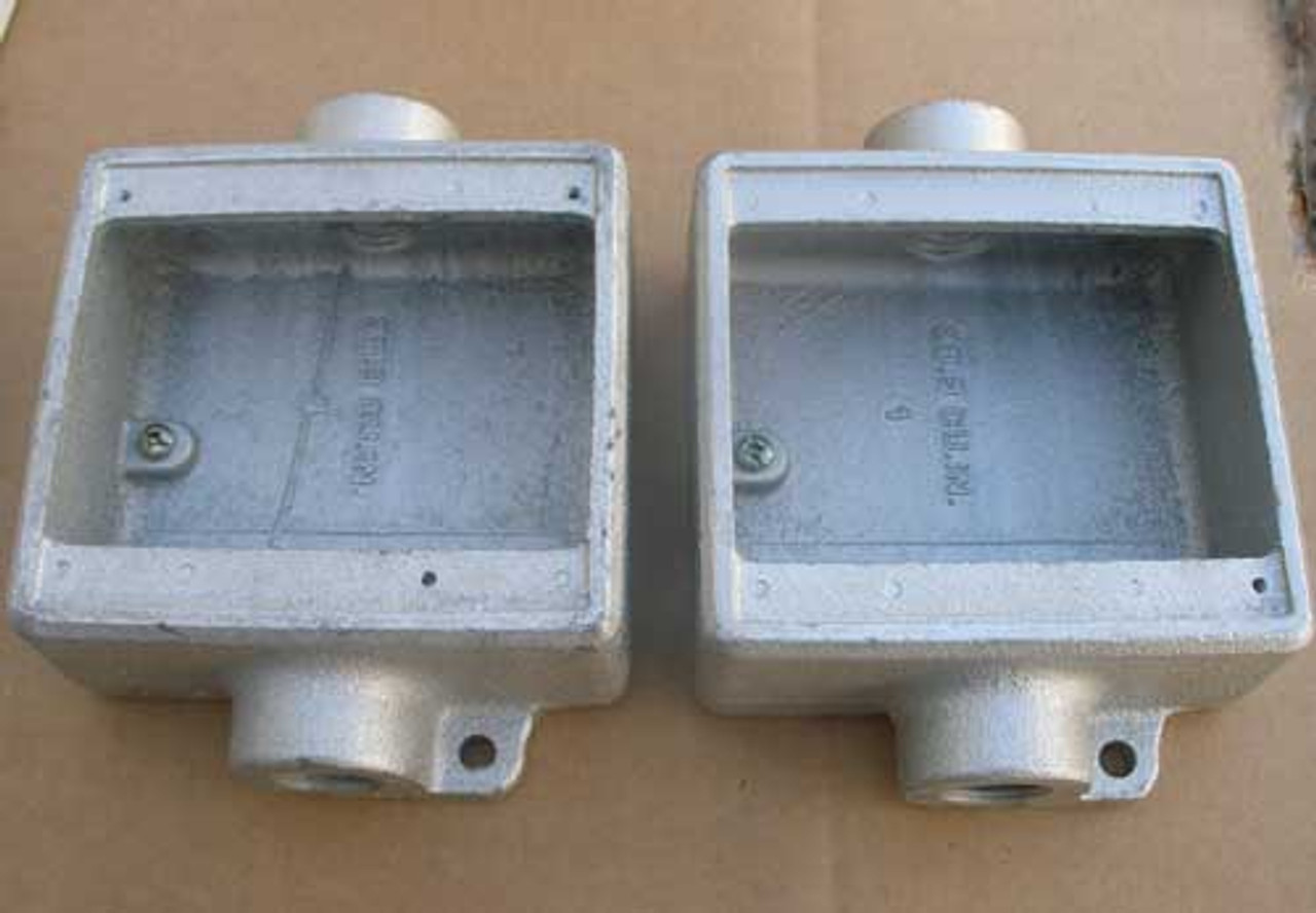 """Cooper Crouse Hinds FSC12 2 Gang Outlet Box- 1/2""""  (Lot of 2) - New"""