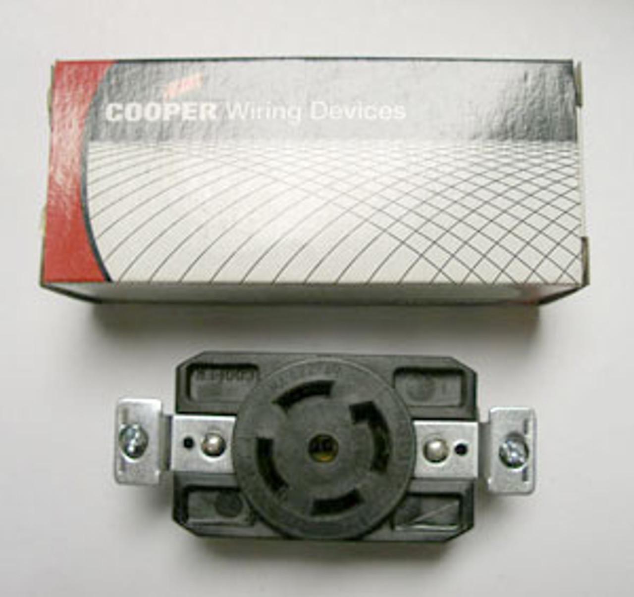 Cooper CWL2230R 30A 277/480V Receptacle - New