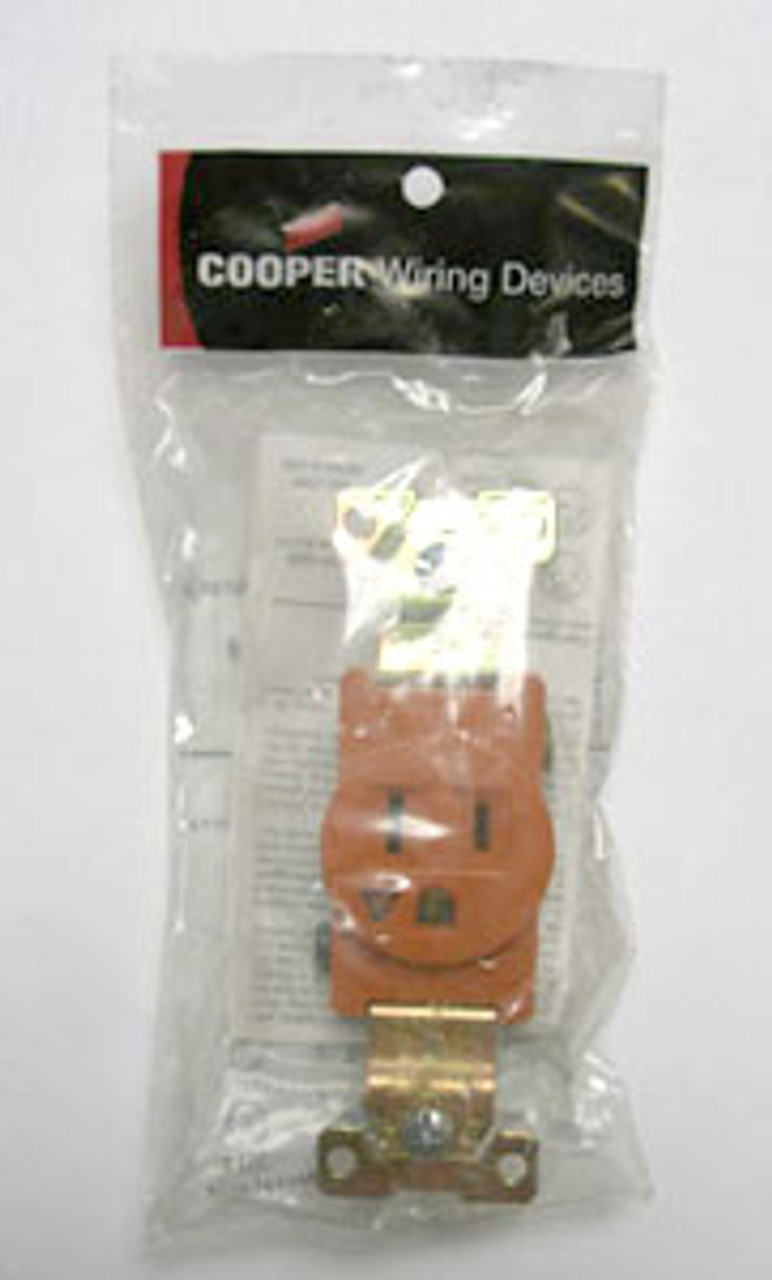 Cooper IG5262RN 15A NM5-15 Orange Receptacle Sold in Box of 7