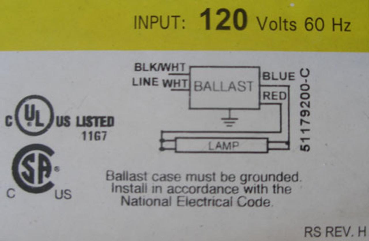 "Crescent SM1171K1Y 24"" 120V Side Mount Fixture w/ B132I120RH-A Ballast"