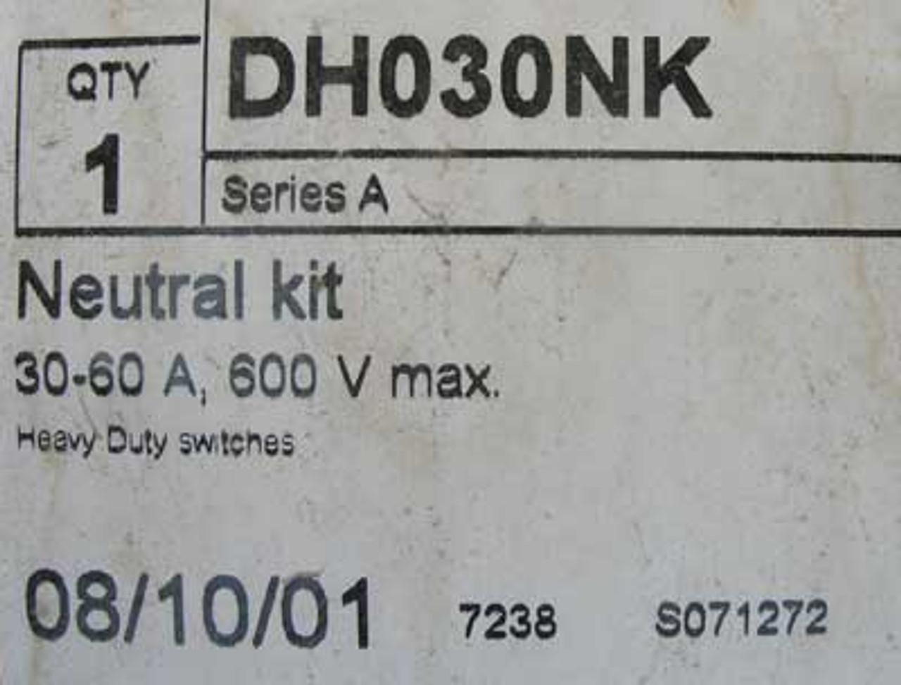 Cutler Hammer DH030NK 30-60 Amp 600V Max Neutral Kit