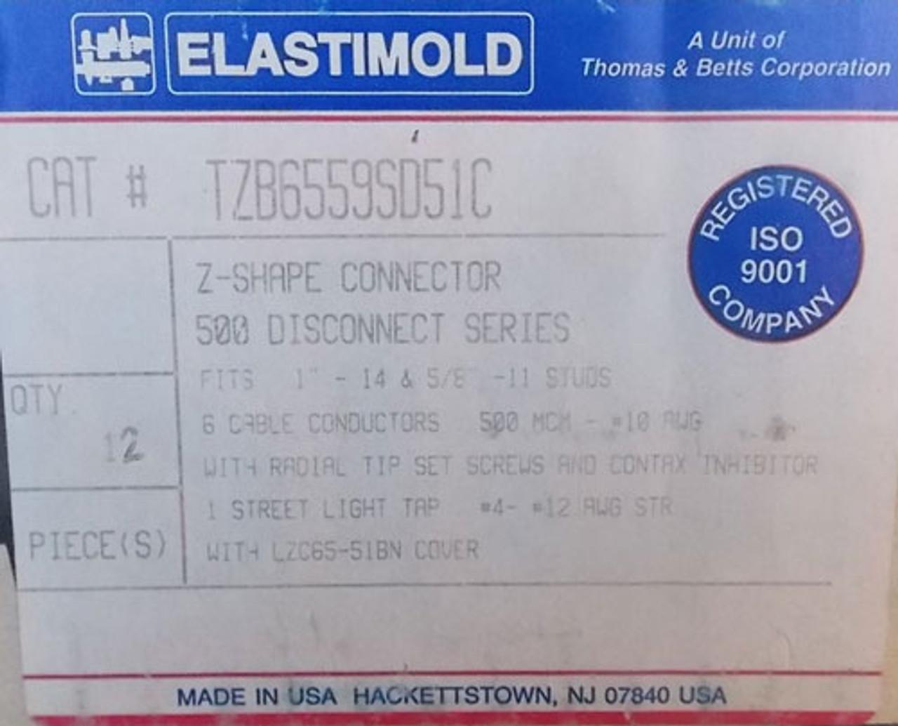 Elastimold TZB6559SD51C Z-Shape Connector 6 Port 500 MCM 10 AL-CU