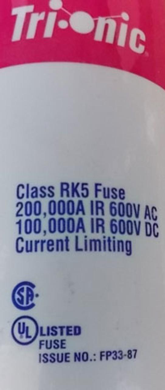 Ferraz Shawmut Tri-Onic TRS600R 600A 600V RK5 Time-Delay Fuse