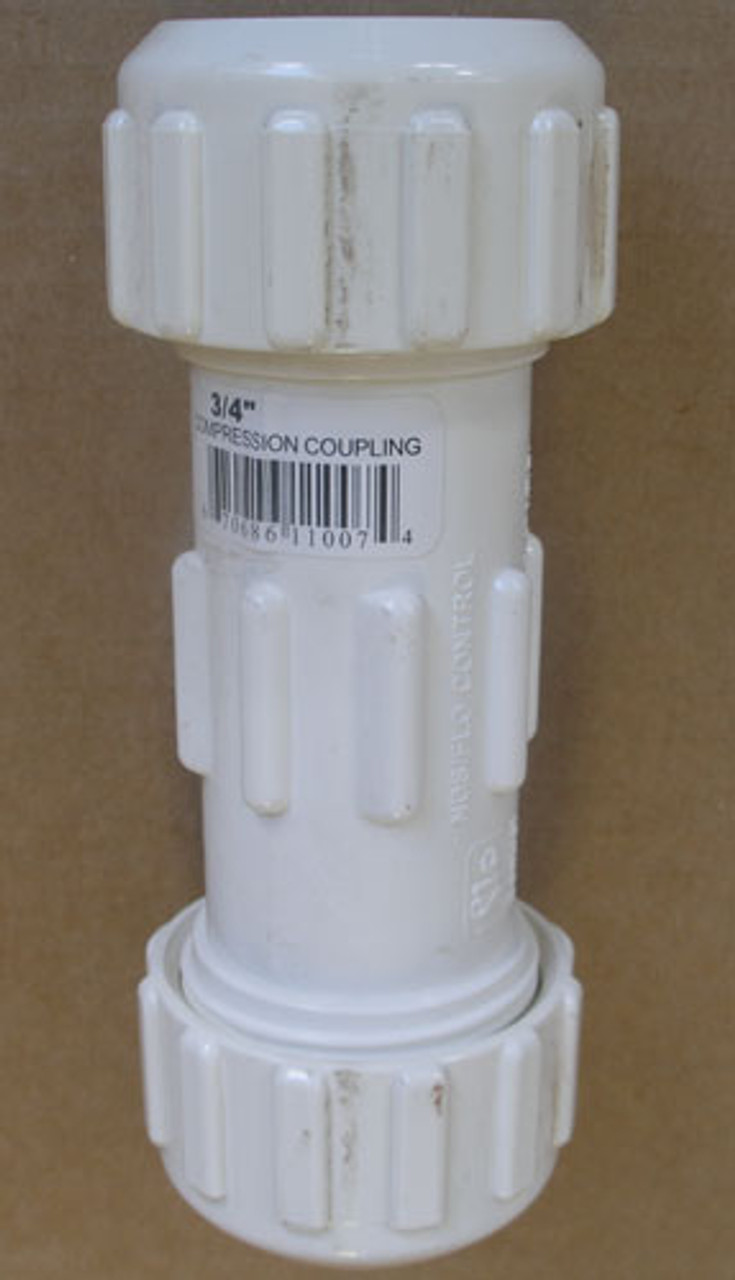 "Flo-Control 110-07 3/4"" Compression Coupling in White (Lot of 3)"