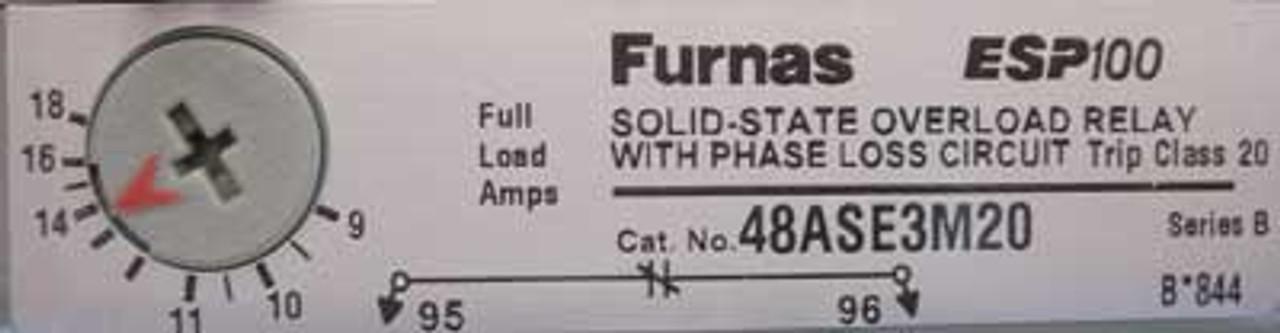 Furnas 14DSE320JA3 Size 1 HD Motor Starter 24V 3PH 9-18 Amp Nema 12 - New