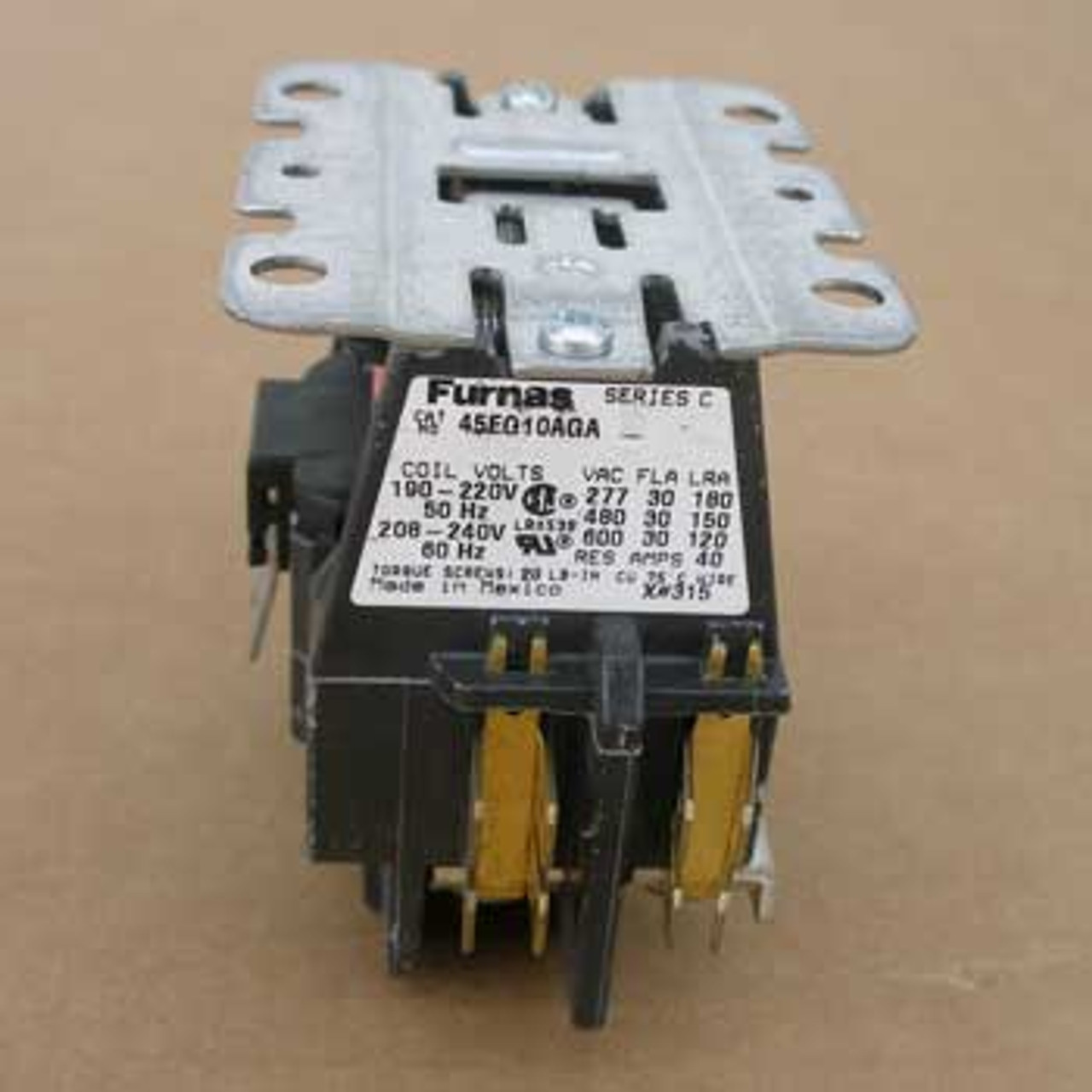 Furnas 45EG10AGA 30 Amp 1 Pole 240VAC Coil Definite Purpose Contactor