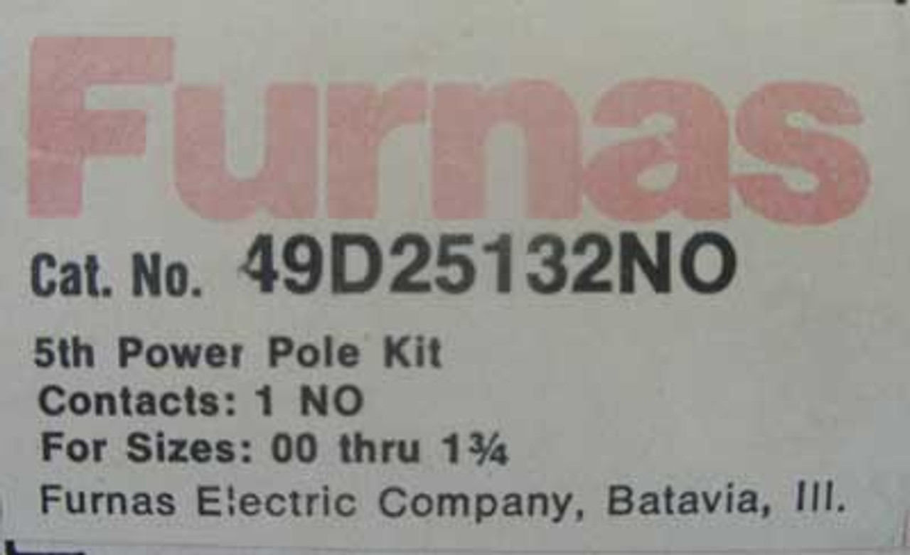 Furnas 49D25132NO 5th Power Pole Kit For Size 00 - 1-3/4