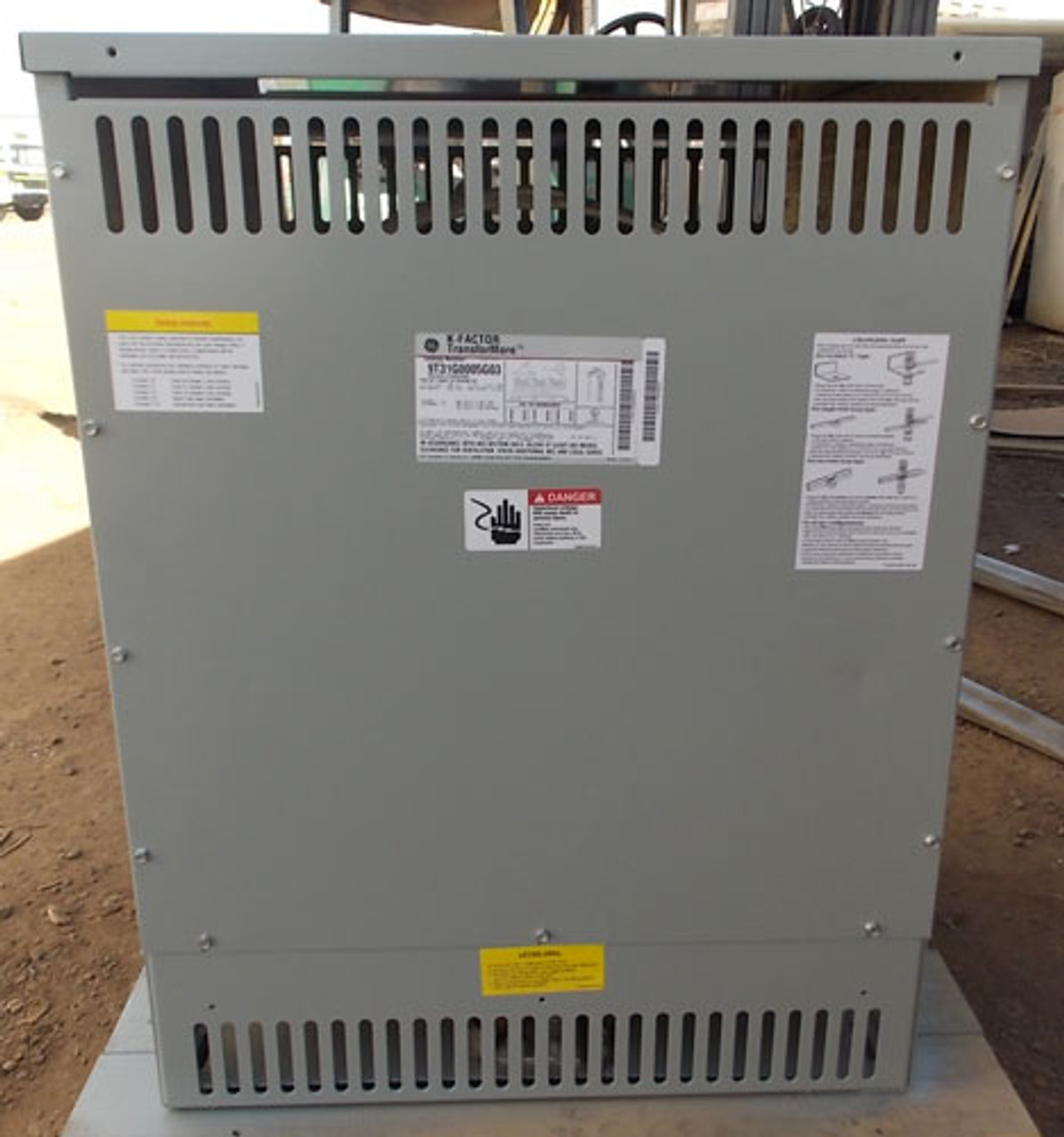 GE 9T31G0005G03 112.5 KVA 480 to 208/120V 3PH K-Factor Transformer N1 - Reconditioned