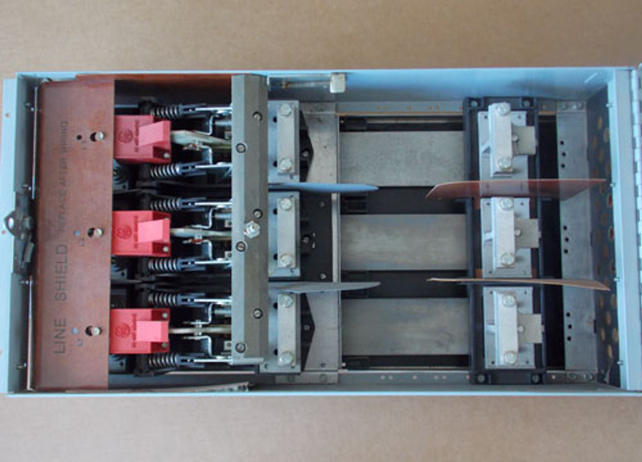 GE ADS36400HM 400 Amp 600V 3 Phase Fusible Single Panel Switch - Used