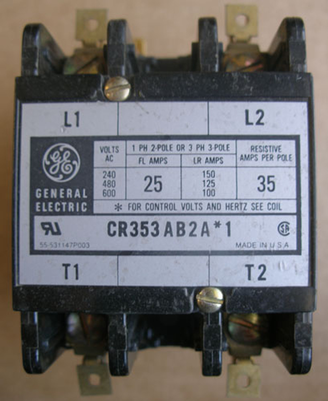 General Electric 24 Volt Contactor Coil 3ARR9F14 NOS Made in USA