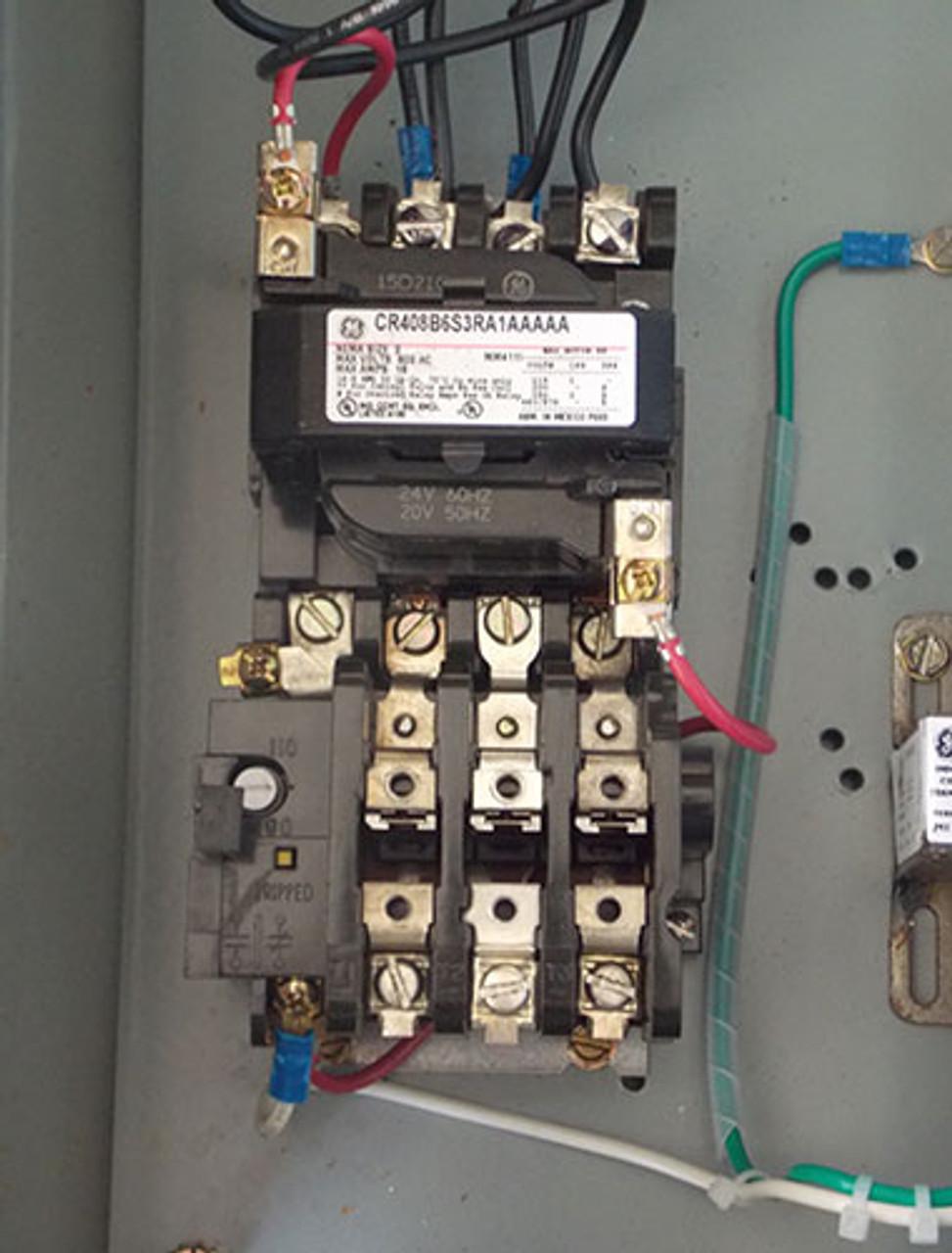 GE CR408B6S3RA1AAAAA Size 0 Fusible Combination Starter 600V N3R - Used