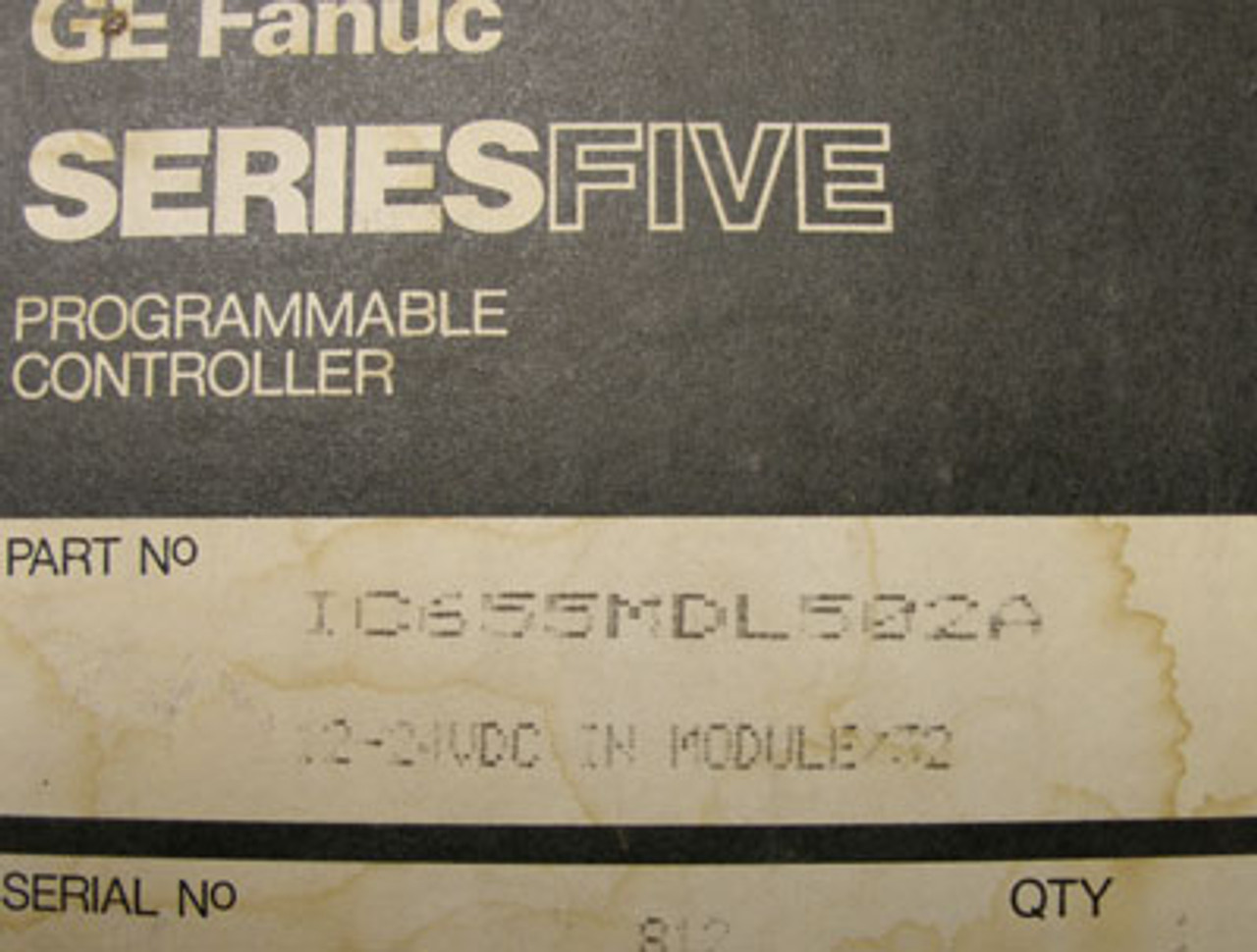 GE Fanuc Series Five Programmable Controller - New