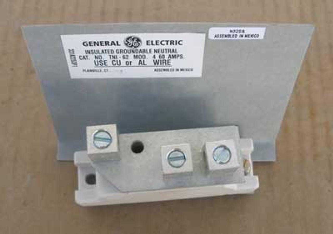 GE Insulated Groundable Neutrals TNI62 60 Amp 600V Model No. 4