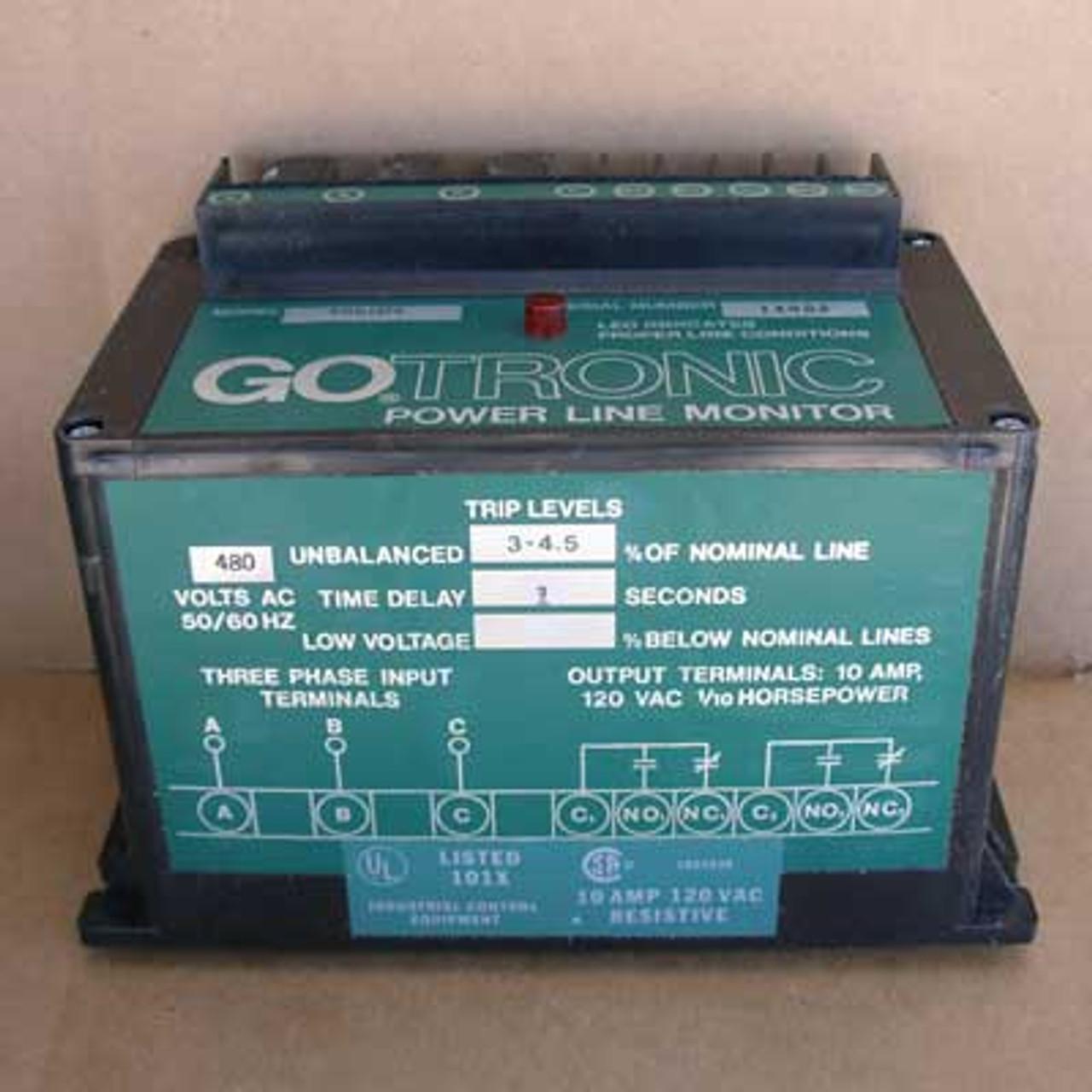 GOTRONIC #585109 Power Line Monitor 480V - New