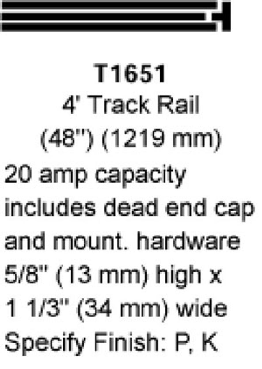 Hubbel Marco 4' Track Rails White Finish