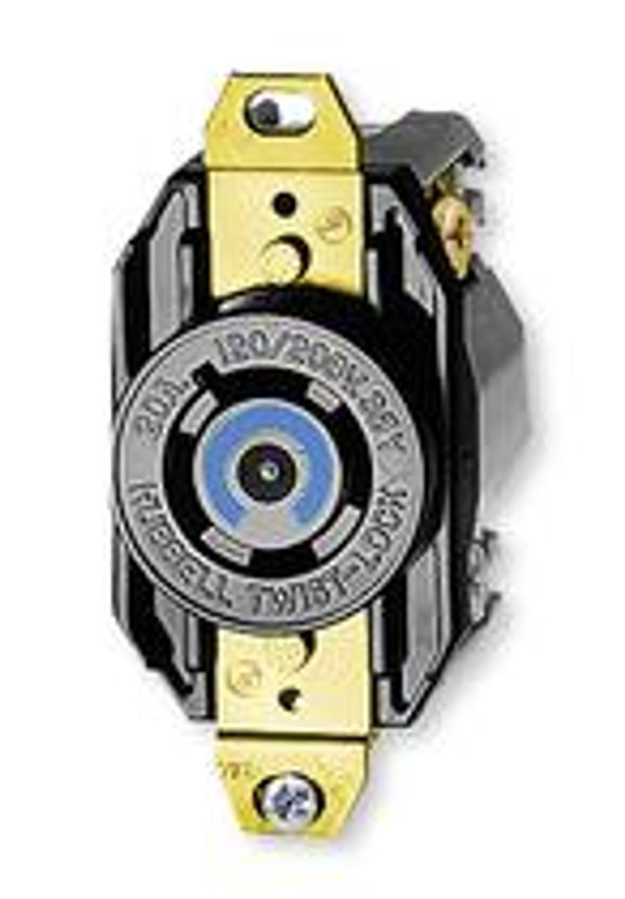 Hubbell 3330 TwistLock 3 Pole 3W 30A Recept 125/250V (Lot of 3)